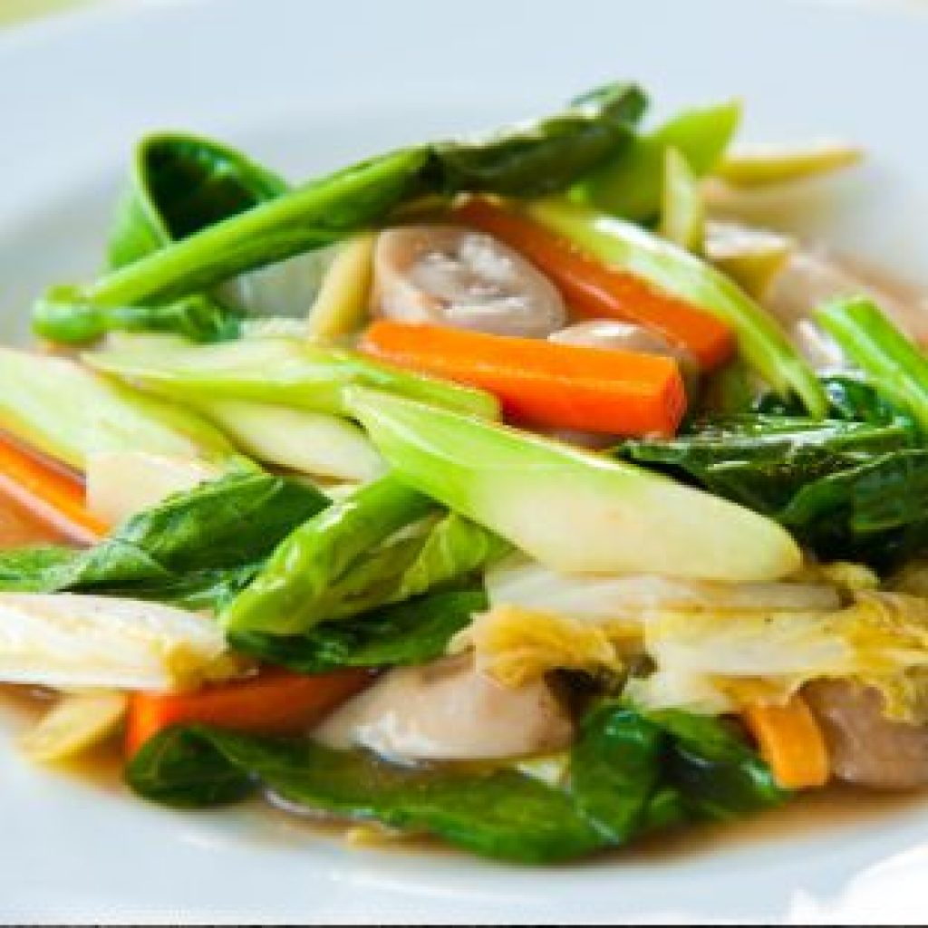 Mixed Vegetable with Garlic Sauce2